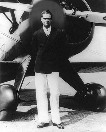 Howard Hughes Portrait w/ Boeing Plane Photo Print