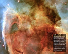 Hubble Space Telescope Carina Nebula NASA Photo Print
