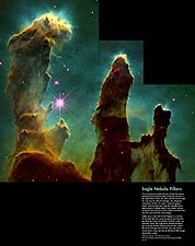 Hubble Space Telescope Eagle Nebula Pillars Photo Print for Sale