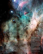 Hubble Space Telescope Omega Nebula M17 Photo Print for Sale
