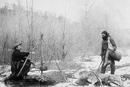 Hunting Deer Old West Miners Cooking 1888 Photo Print