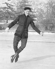 Ice Skater Irving Brokaw Central Park Lake Photo Print