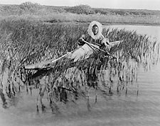 Indian Kotzebue Muskrat Hunter & Kayak Photo Print for Sale