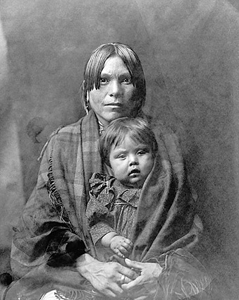 Indian Mother & Child Edward S. Curtis 1905 Photo Print