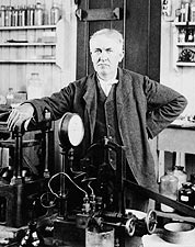 Inventor Thomas Edison in Laboratory 1901 Photo Print for Sale