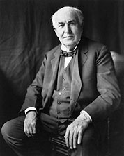 Inventor Thomas A. Edison Portrait 1922 Photo Print for Sale