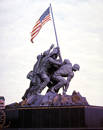 Iwo Jima WWII Flag Raising Memorial Photo Print
