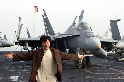 Jackie Chan Aboard USS Kitty Hawk Photo Print