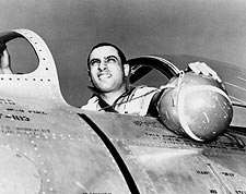 James Jabara Jet Fighter Ace in Cockpit Photo Print for Sale
