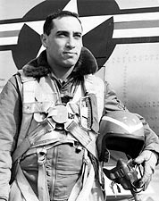 James Jabara Jet Fighter Ace in Flight Suit Korean War Photo Print for Sale