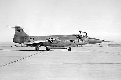 JF-104A Starfighter on Runway F-104 Photo Print