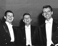 JFK, RFK, and Ted Kennedy at Formal Event  Photo Print for Sale