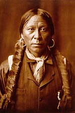 Jicrilla Indian Edward S. Curtis Portrait Photo Print for Sale