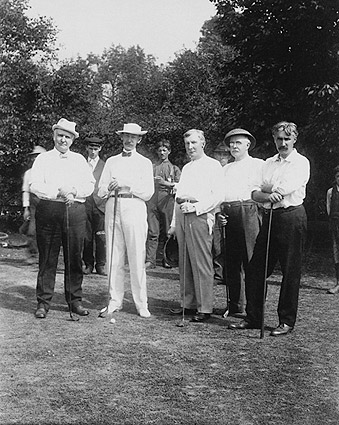 John D. Rockefeller & Friends Golfing Photo Print