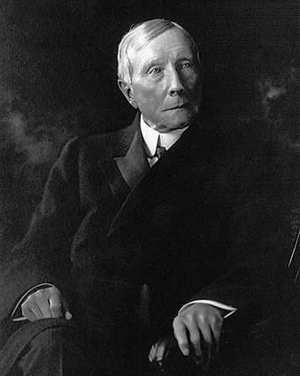John D. Rockefeller Seated Portrait 1910 Photo Print