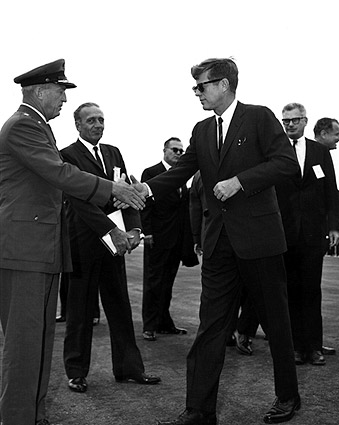 John F Kennedy and General L. Davis Photo Print