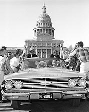 John F. Kennedy and Lyndon Johnson Campaign in Texas Photo Print for Sale