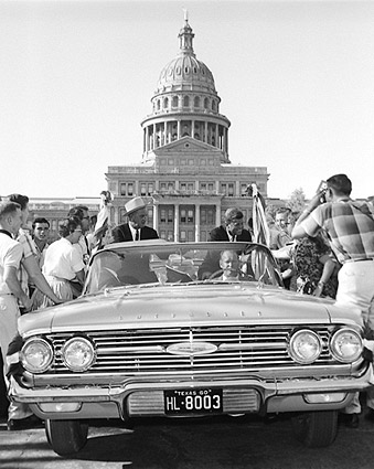 John F. Kennedy and Lyndon Johnson Campaign in Texas Photo Print