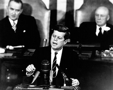 John F Kennedy JFK Moon Speech Photo Print