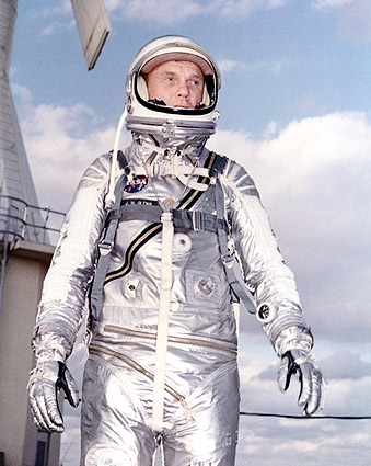 John Glenn in Mercury Space Suit Photo Print