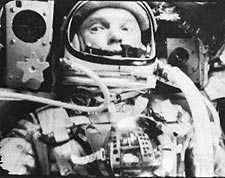 John Glenn in State of Weightlessness Photo Print for Sale