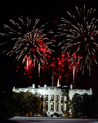 July 4th White House Fireworks in Washington D.C. Photo Print