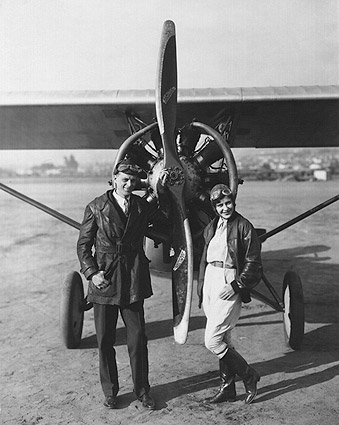 Kathryn Crawford & Otto Timm with Plane Photo Print