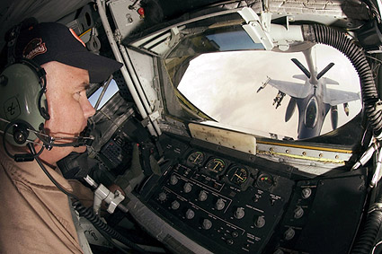 KC-135 Stratotanker Boom Operator View Photo Print