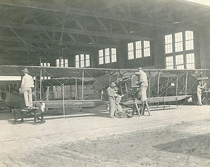Kelly Field in San Antonio Airplane Mechanics WWI Photo Print