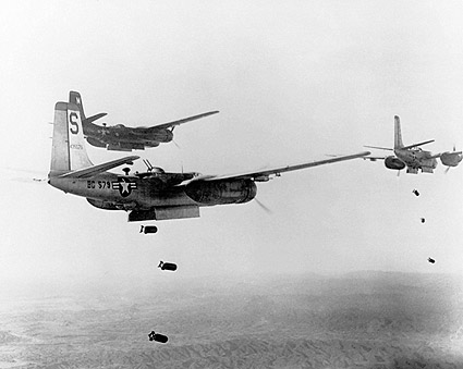 Korean War Douglas A-26 Invader Formation Bomb Mission Photo Print