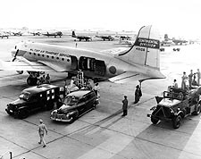 Korean War Medical Aircraft C-54 Skymaster at Bolling AFB Photo Print for Sale