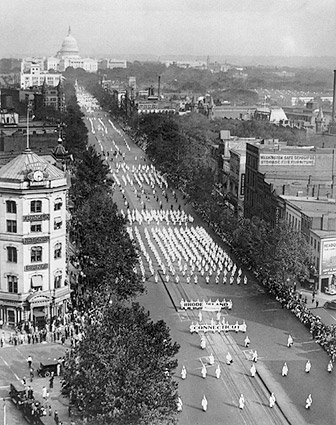 Ku Klux Klan Parade Washington D.C. 1926 Photo Print