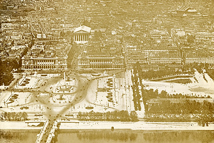 La Madeleine and Place de la Concorde in Paris 1915 Photo Print