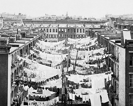 Laundry on Clotheslines New York City 1900  Photo Print