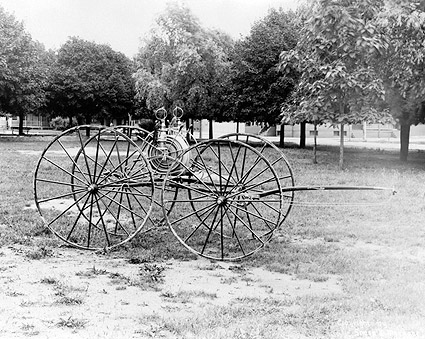 Laurel Hose Reel on Antique Fire Cart Photo Print
