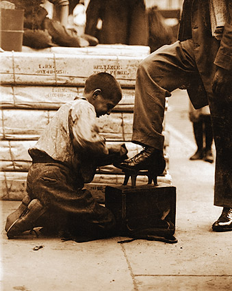 Lewis Hine Bowery Shoeshine Bootblack Photo Print