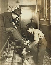 Lewis Hine Indianapolis Shoeshine Boy Photo Print for Sale