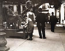 Lewis Hine NYC Shoeshine Boot Black Photo Print for Sale