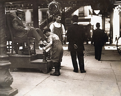 Lewis Hine NYC Shoeshine Boot Black Photo Print