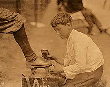 Lewis Hine Shoeshine Boy Newark New Jersey Photo Print for Sale