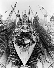 Liberty Ship Construction, Baltimore 1943 Photo Print for Sale