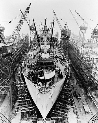 Liberty Ship Construction, Baltimore 1943 Photo Print
