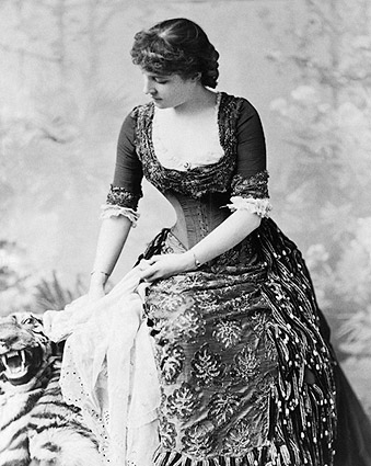 Lillie Langtry Tiger Rug Portrait 1882 Photo Print