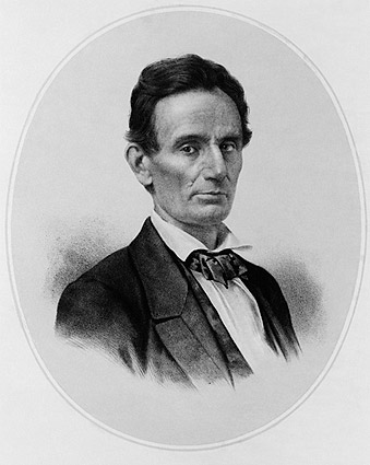 Lithograph of President Abraham Lincoln Photo Print