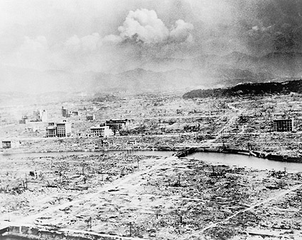 Little Boy A-Bomb Drop Hiroshima Ruins Photo Print