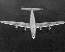 Lockheed C-69 Constellation Aircraft in Flight WWII Photo Print