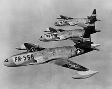 Lockheed F-80 Shooting Stars in Flight Photo Print