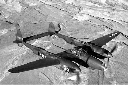 Lockheed P-38 Lightning Aircraft WWII Photo Print
