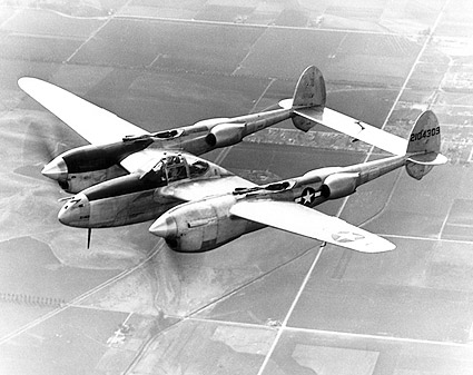 Lockheed P-38 Lightning in Flight Photo Print