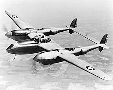 Lockheed YP-38 / P-38 Lightning in Flight Photo Print for Sale